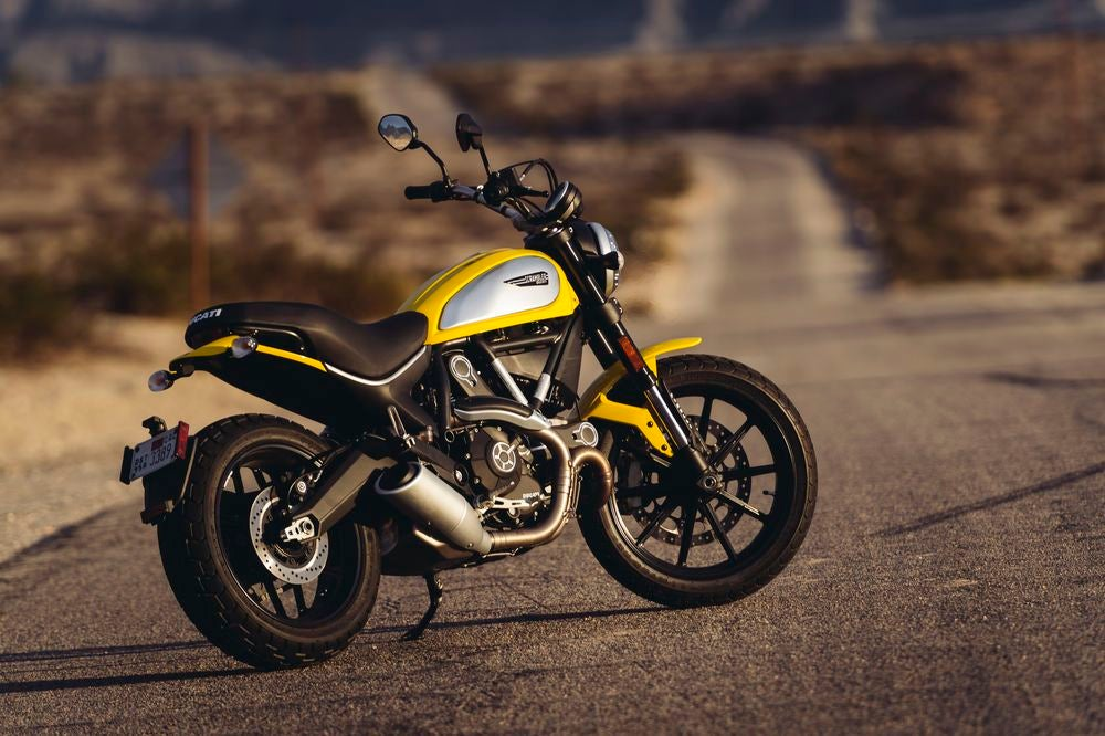 Coming in at 31.1 inches—30.3 inches with an optional lower seat—the Ducati Scrambler is a great beginner bike for short riders who want to hit some light off-road trails.