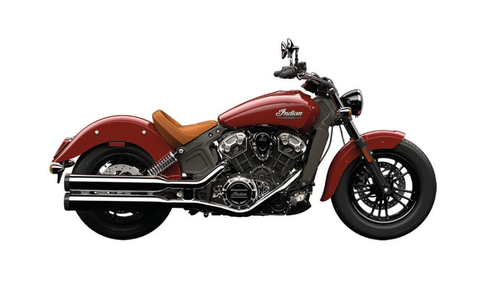 The Indian Scout's 25.8-inch seat height makes it a viable cruiser motorcycle for any rider, whether they are short or tall.