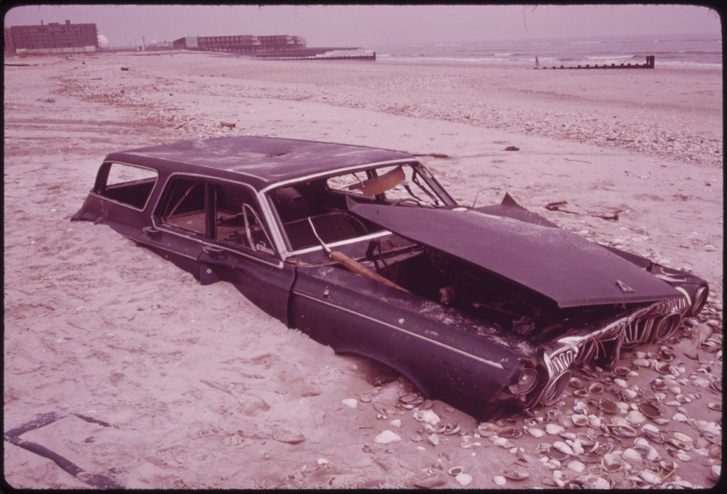sand covered car