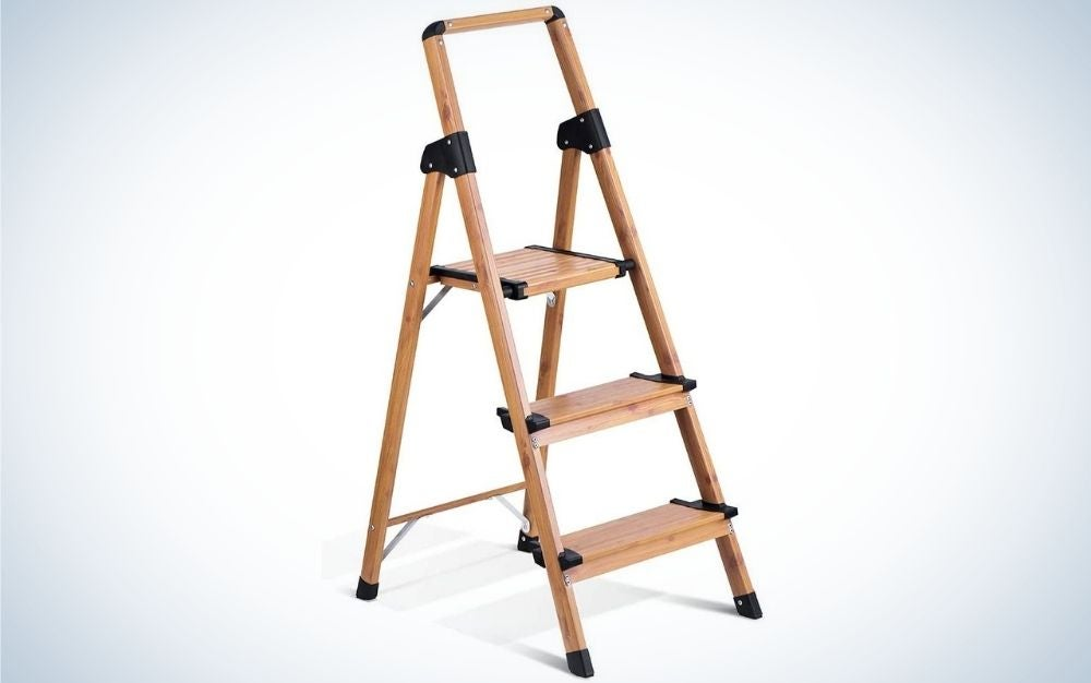 The Delxo Aluminum 3 Step Ladder is the best overall.