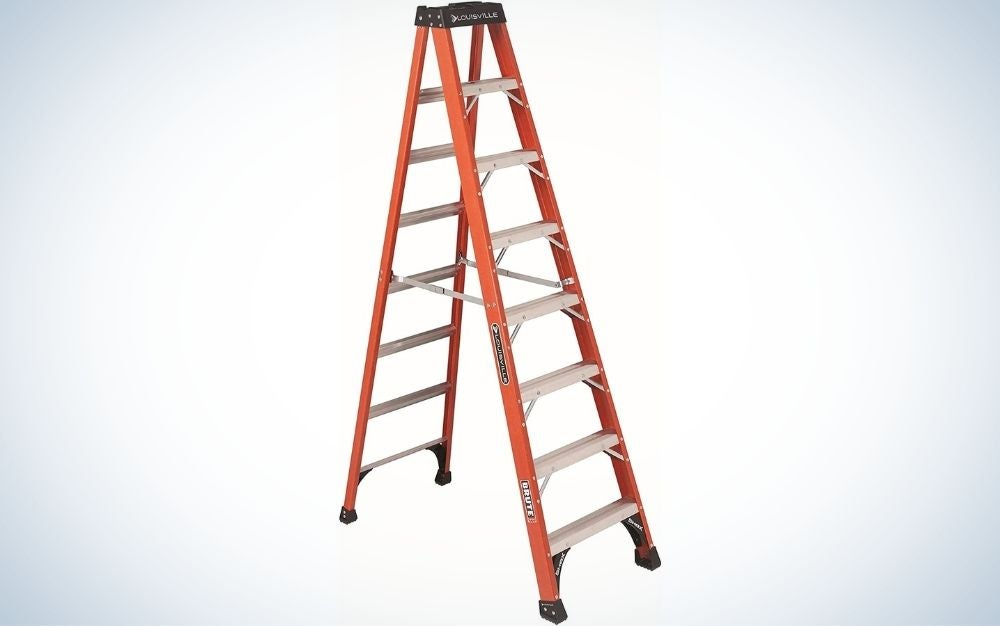 The Louisville Ladder 8ft Step Ladder is the best large step ladder.