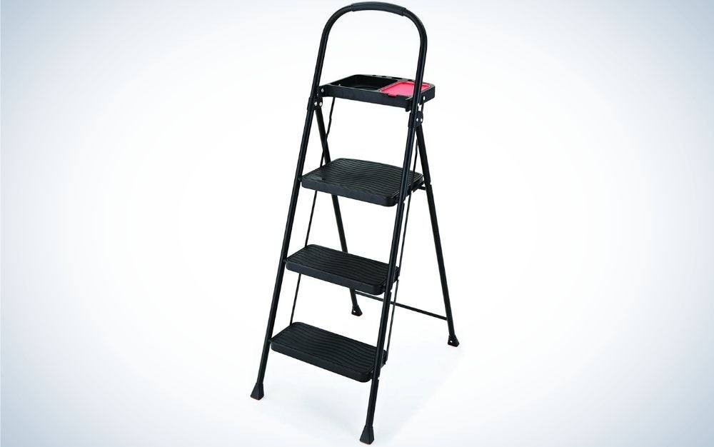 The Rubbermaid Steel Step Stool is the best value.