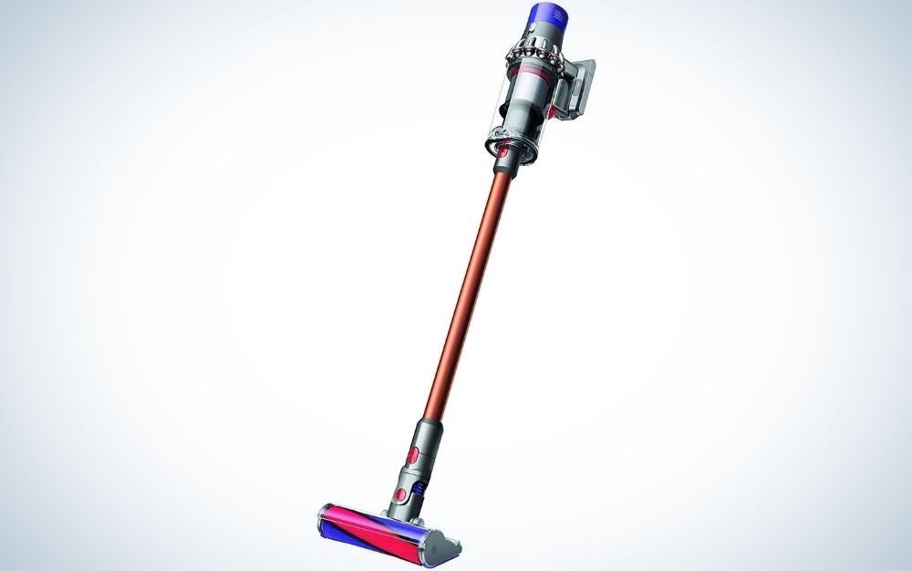 The Dyson Cyclone V10 Absolute Lightweight Cordless Stick Vacuum Cleaner is the best upgrade pick.