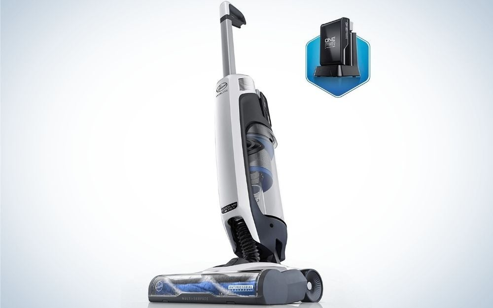 The Hoover ONEPWR Evolve Pet Cordless Small Upright Vacuum Cleaner is the best for pet hair.