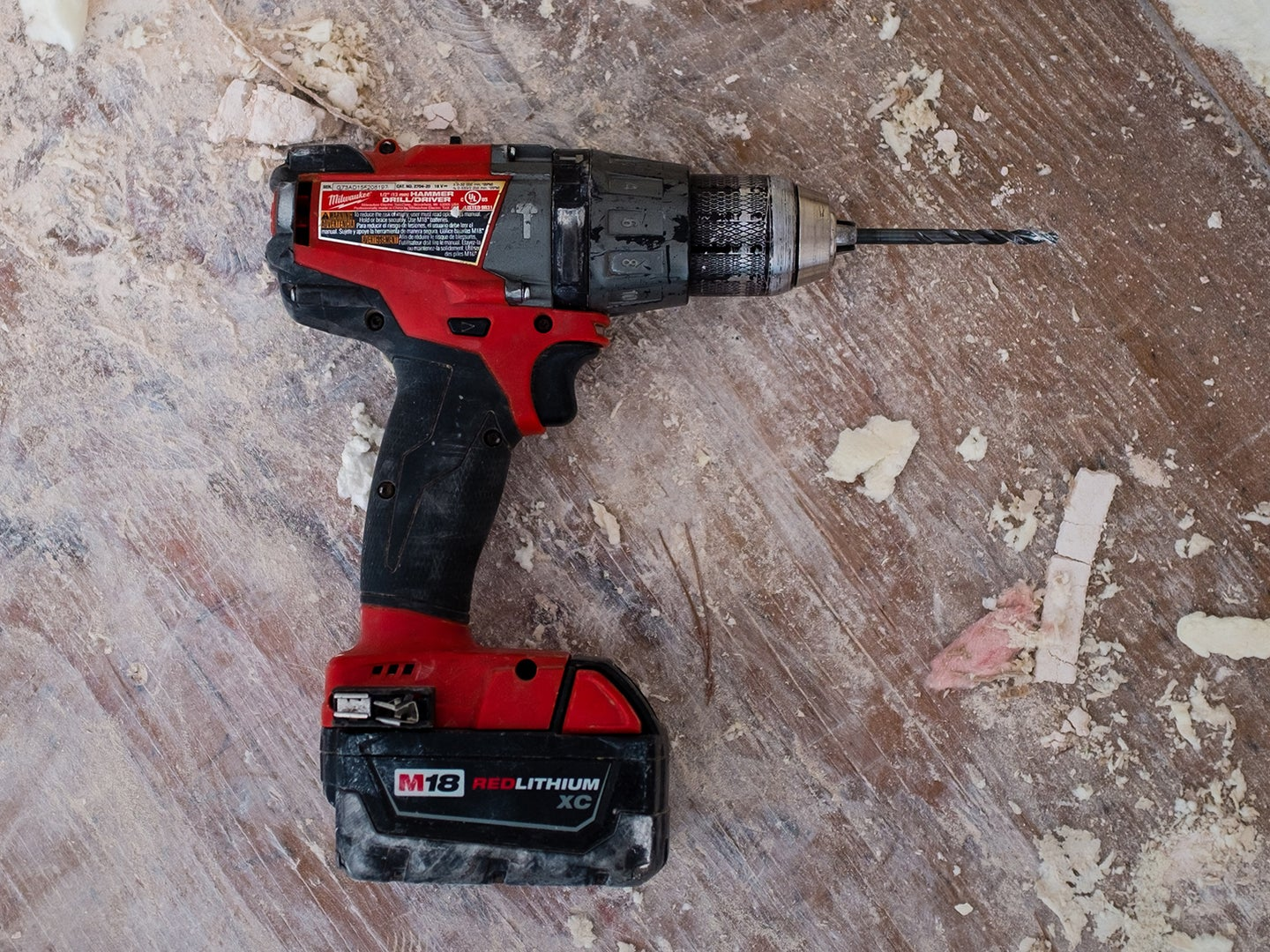 Red cordless drill
