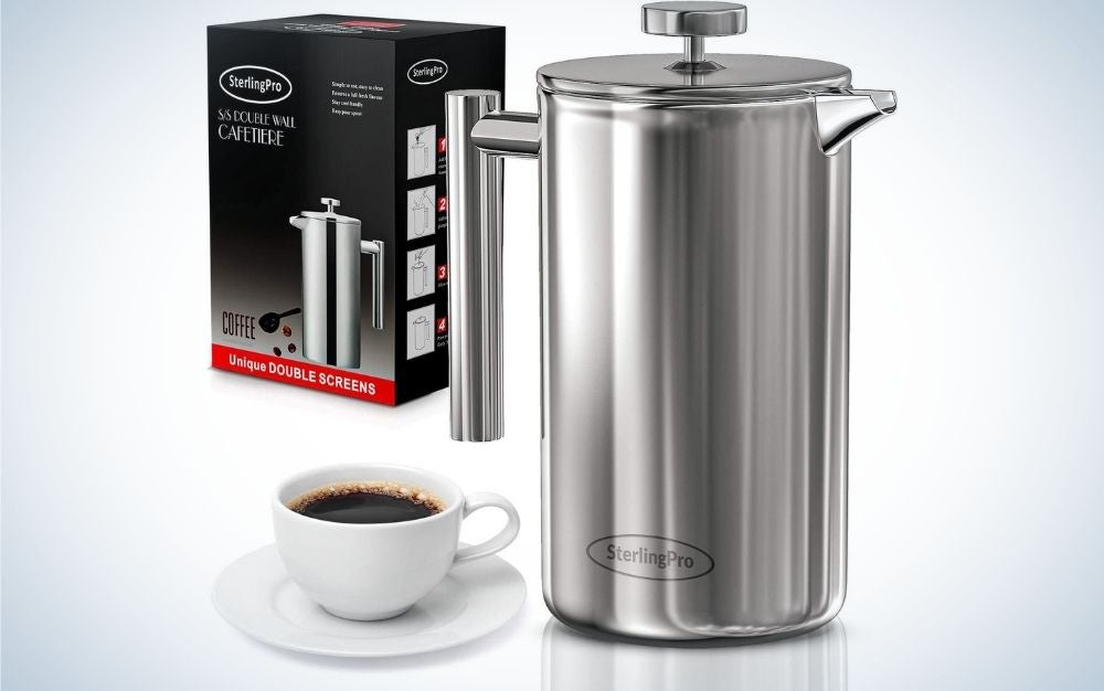 The SterlingPro French Press Coffee Maker is the best French press coffee maker.