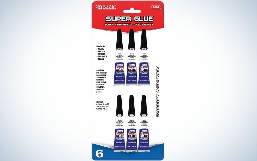 Bazic Super Glue is the best fast drying.
