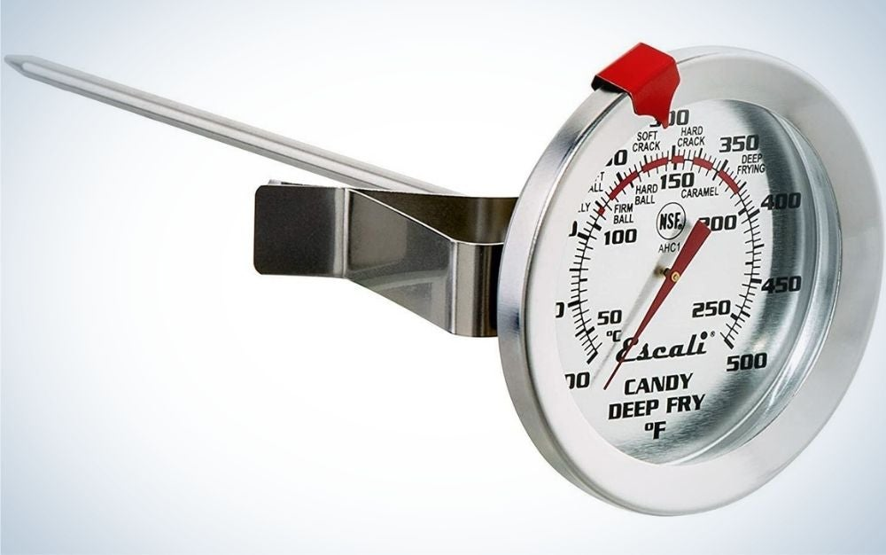 The Escali Candy/Deep Fry Thermometer is the best round-faced thermometer.