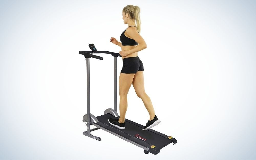 The Sunny Health & Fitness SF-T1407M is the best treadmill for walking.