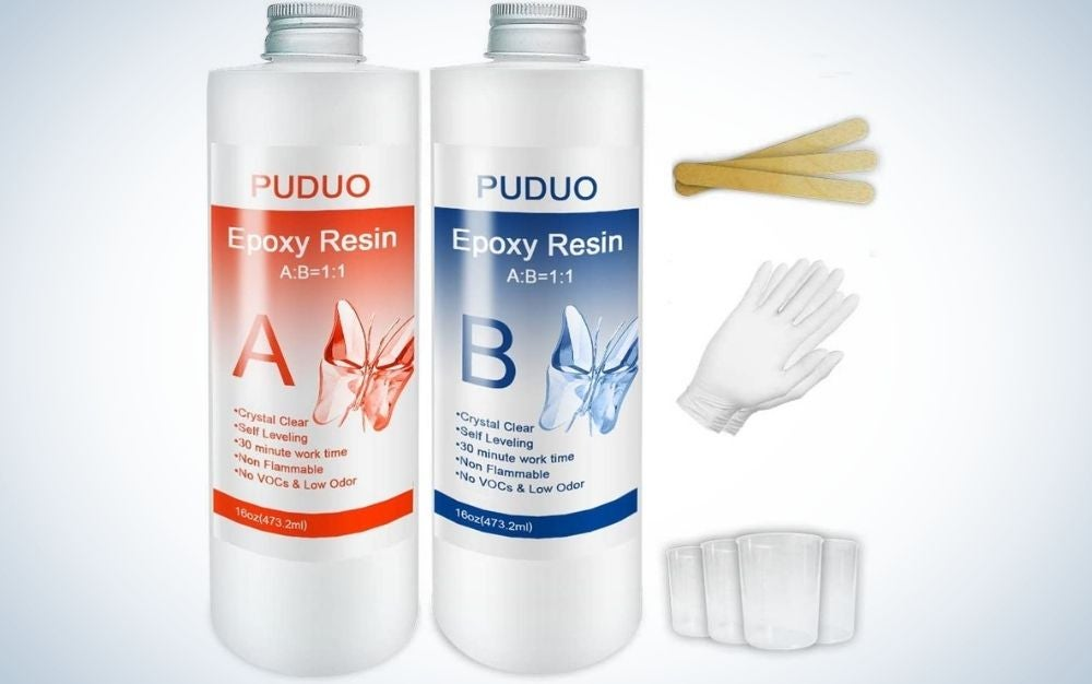 Puduo Epoxy Resin Clear Kit is the best for casting and DIY jewelry.