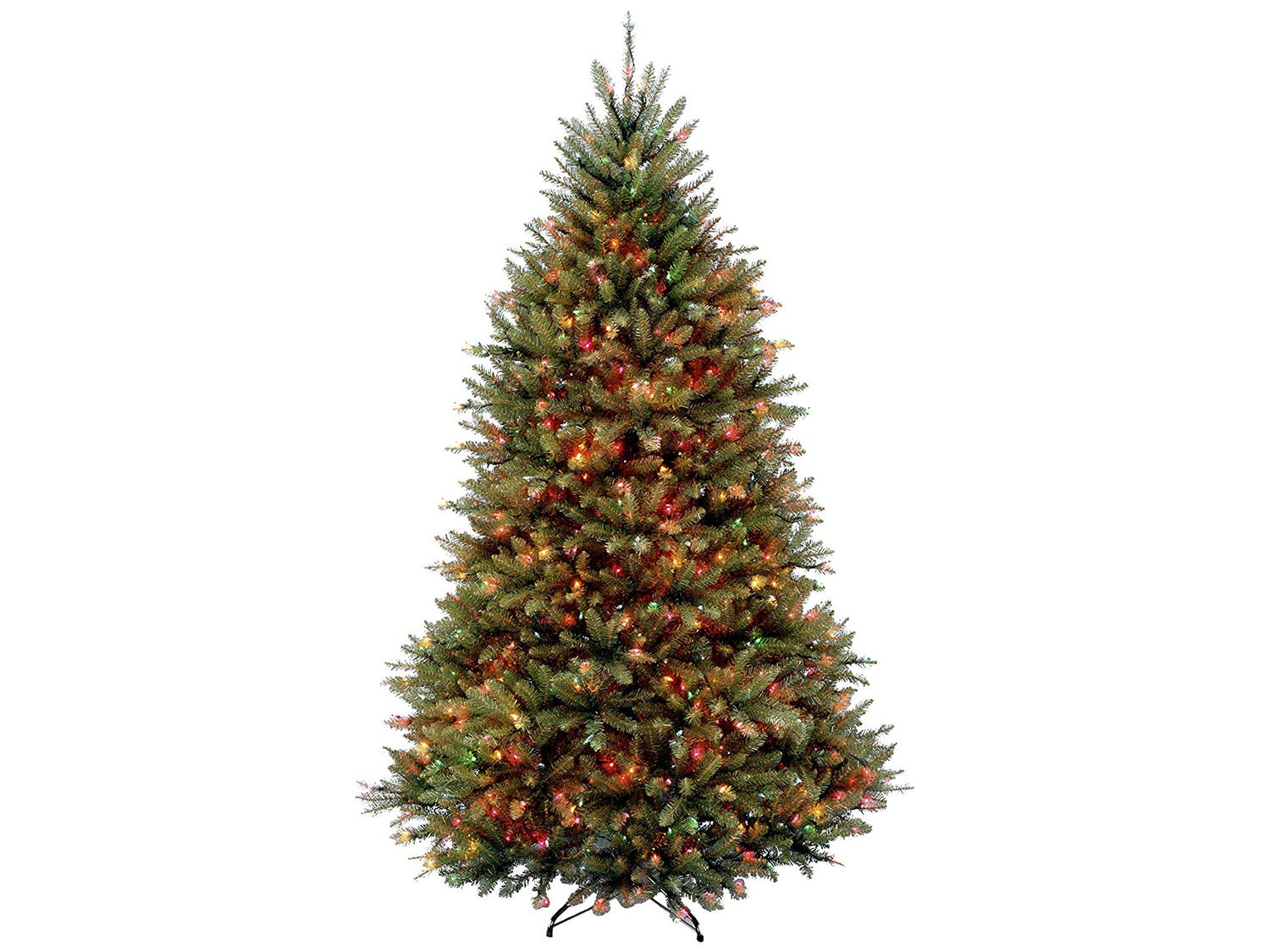 National Tree 6.5 Foot Dunhill Fir Tree with 650 Multicolor Lights