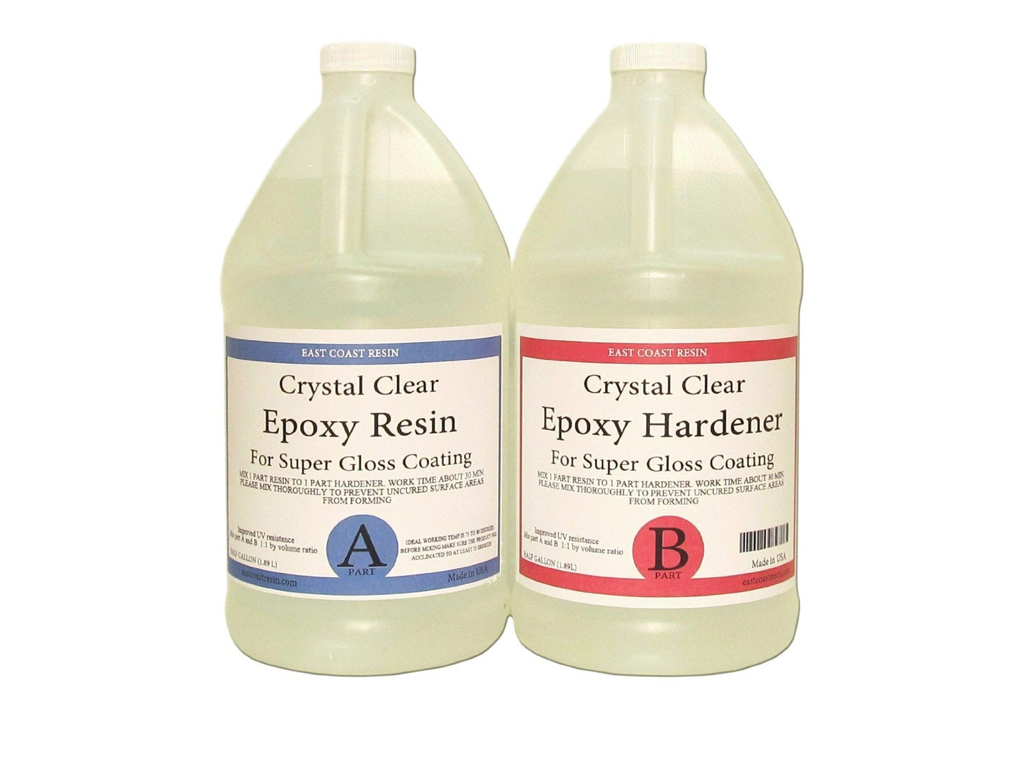 EPOXY Resin Crystal Clear 1 Gallon Kit