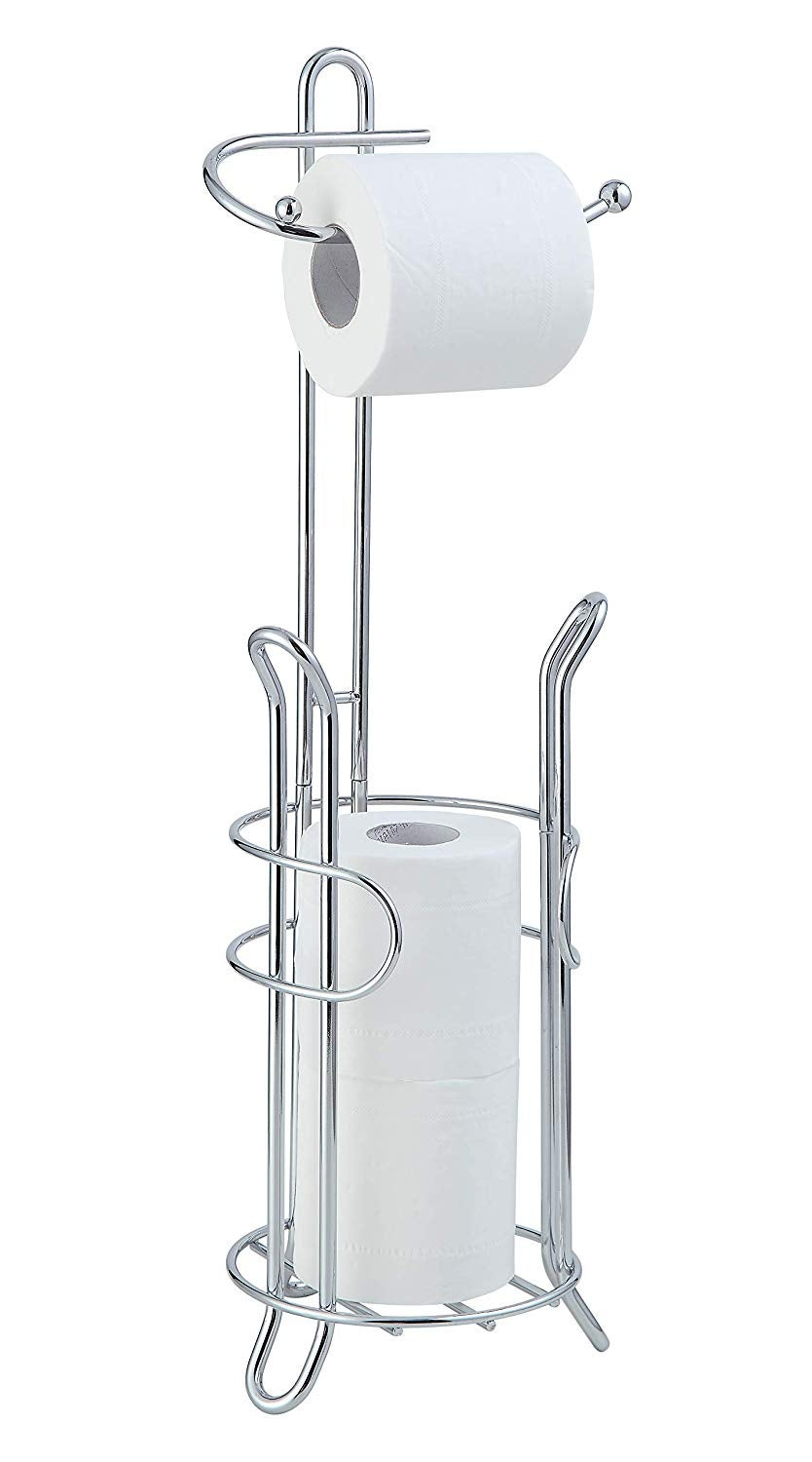 SunnyPoint Bathroom Toilet Tissue Paper Roll Storage Holder Stand with Reserve