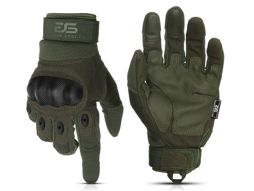 Glove Station The Combat Military Police Outdoor Sports Tactical Rubber Hard Knuckle Gloves