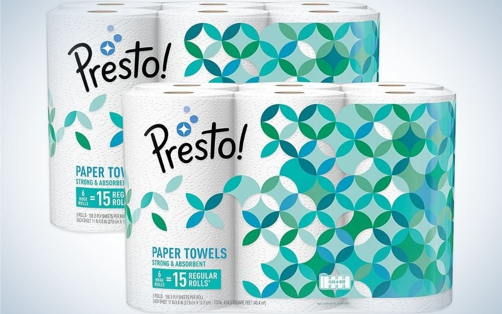 Amazon's Presto! Flex-a-Size Paper Towels are the best house brand.