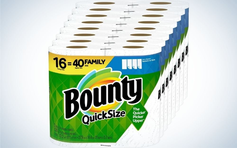 Bounty Quick-Size Paper Towels are the best paper towels overall.