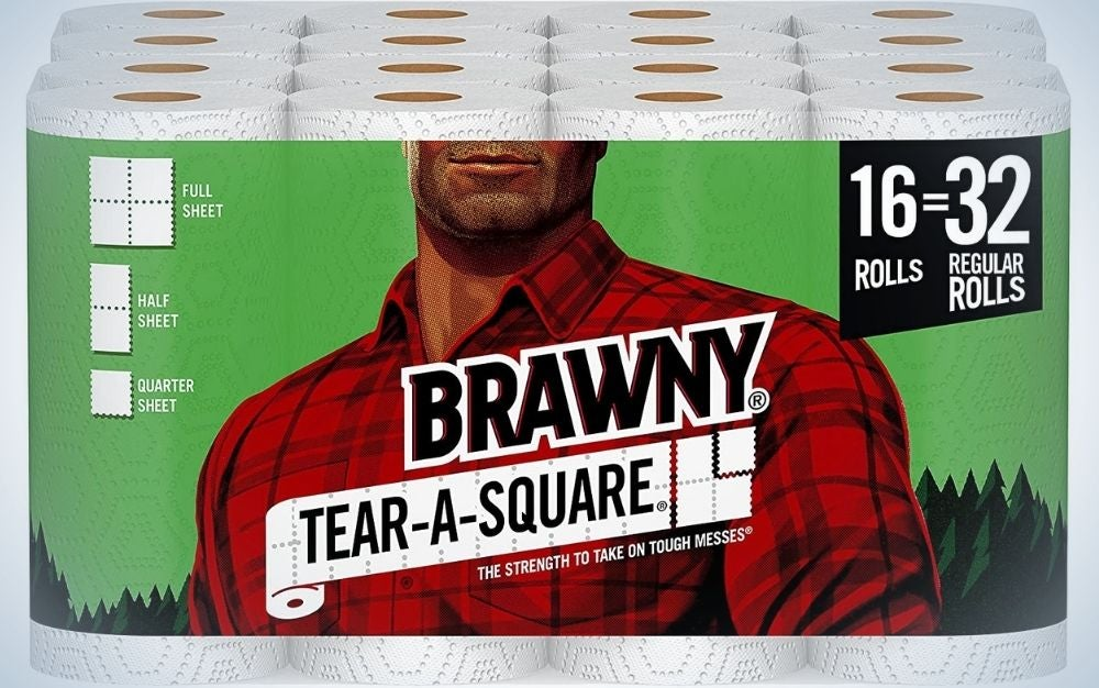Brawny Tear-a-Square Paper Towels are the best value.