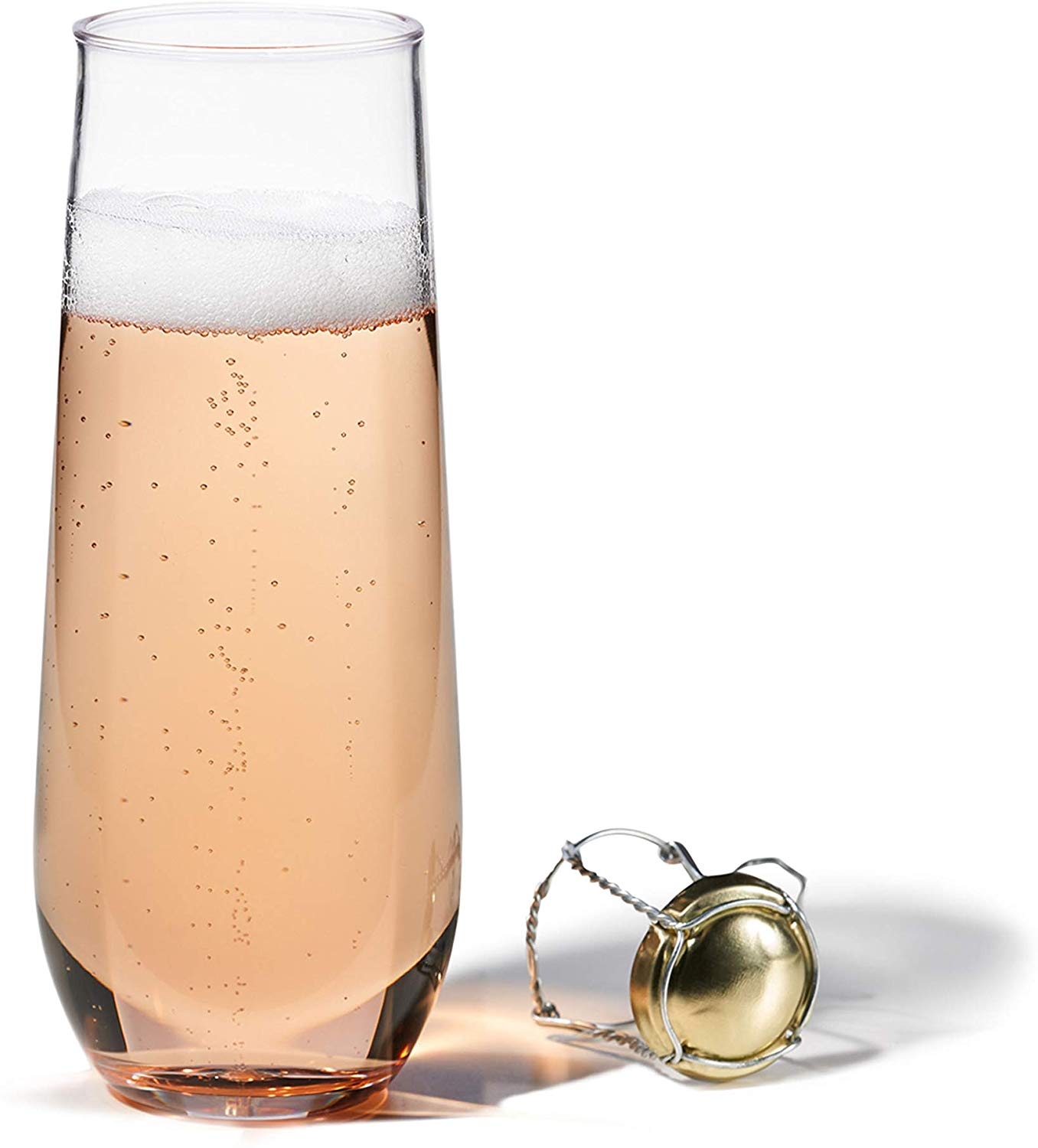 Tossware's polymer champagne flutes