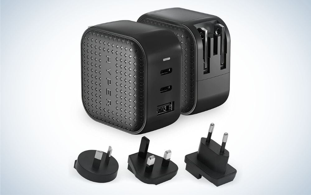 The HYPER HyperJuice 66W GaN Charger is the best iPhone charger for international travel.