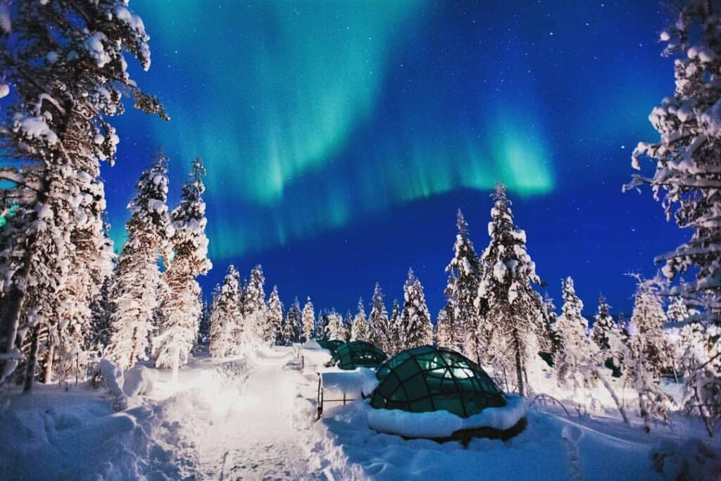 The Igloo Rooms at Hotel Kaklasutten in Finland