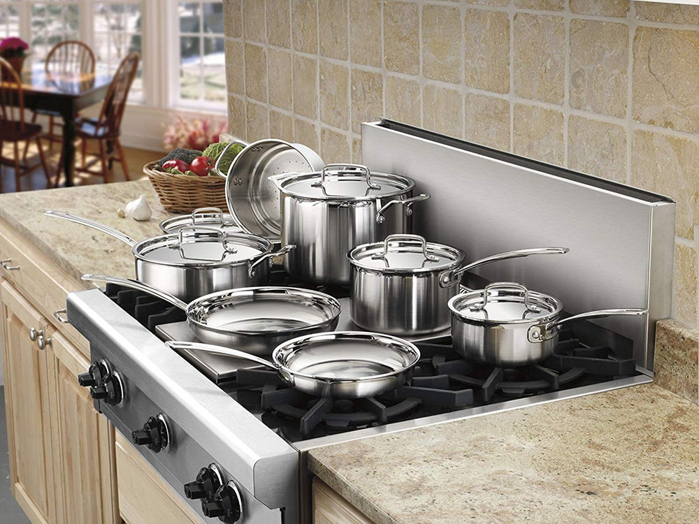 pots and pans on the stove top