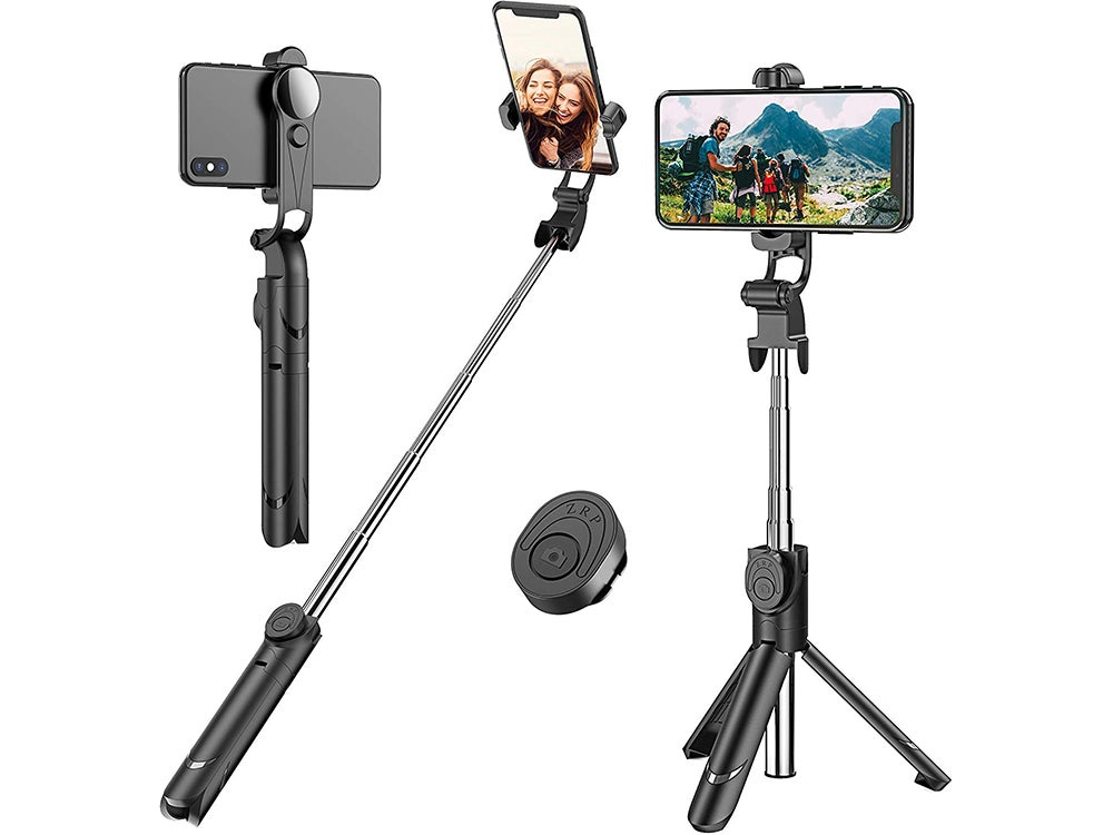 Extendable Selfie Stick Tripod with Detachable Wireless Remote and Tripod