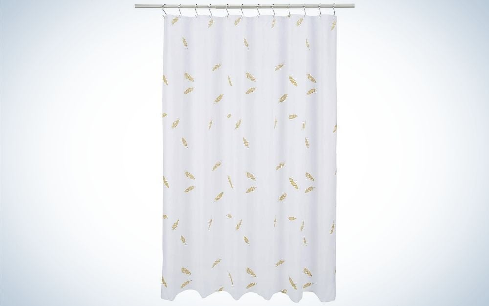 The Amazon Basics Shower Curtain is the best value shower curtain.