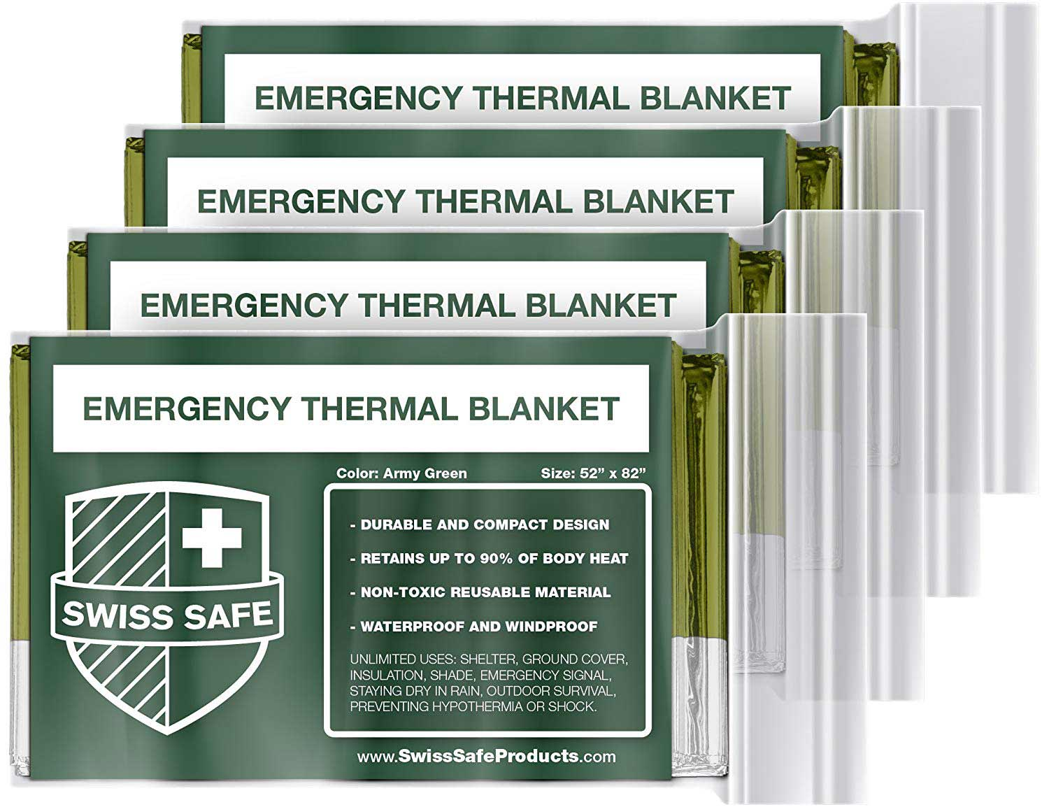 Swiss Safe's mylar-backed thermal blankets