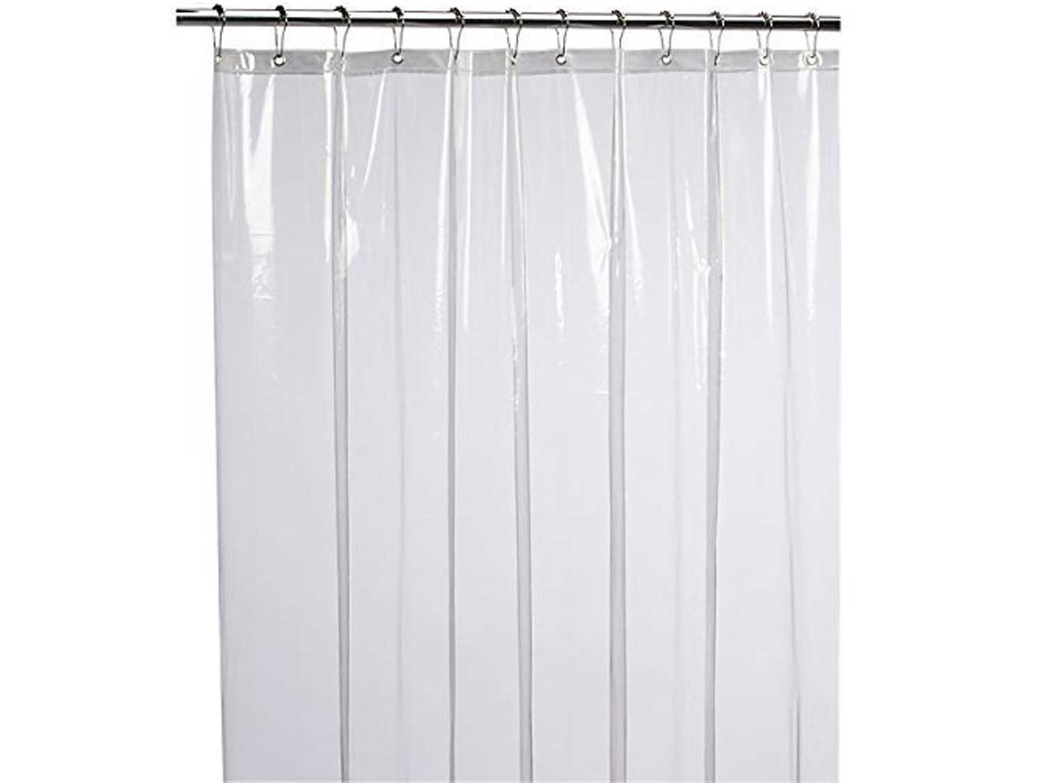 LiBa Mildew Resistant Antimicrobial PEVA 8G Shower Curtain Liner