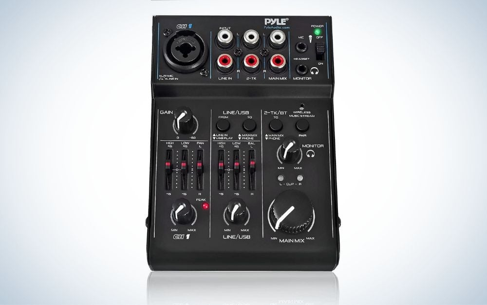 The Pyle PAD10MXU 2-Channel Audio Mixer is the best value audio mixer.
