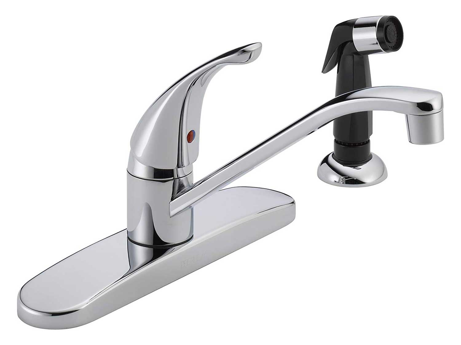Peerless Single-Handle Kitchen Sink Faucet with Side Sprayer, Chrome.
