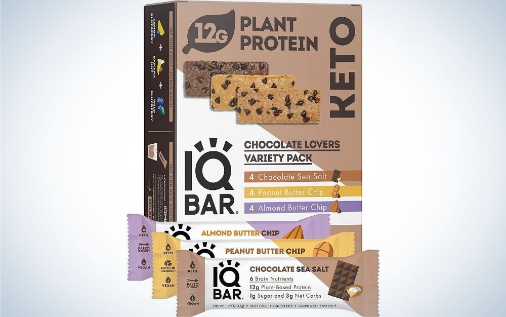 The IQ Bar Brain and Body Protein Bars are the best keto-friendly.