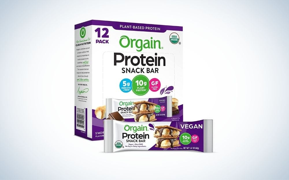 Orgain Organic Plant-Based Bars are the best protein bars for value.