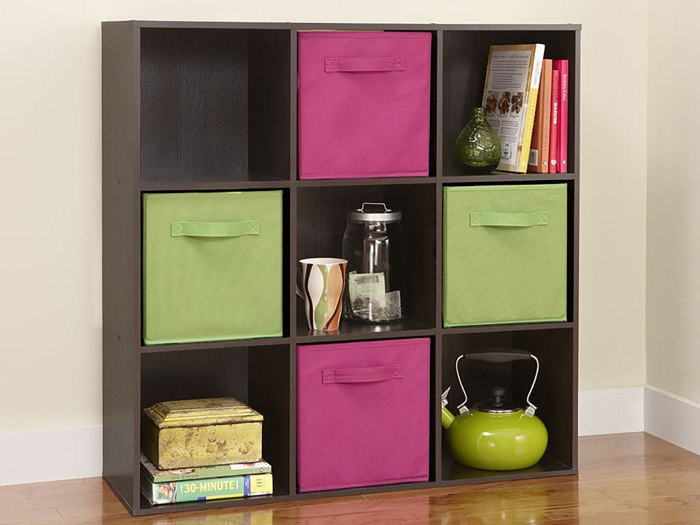 Closetmaid bookshelf with compartments and drawers