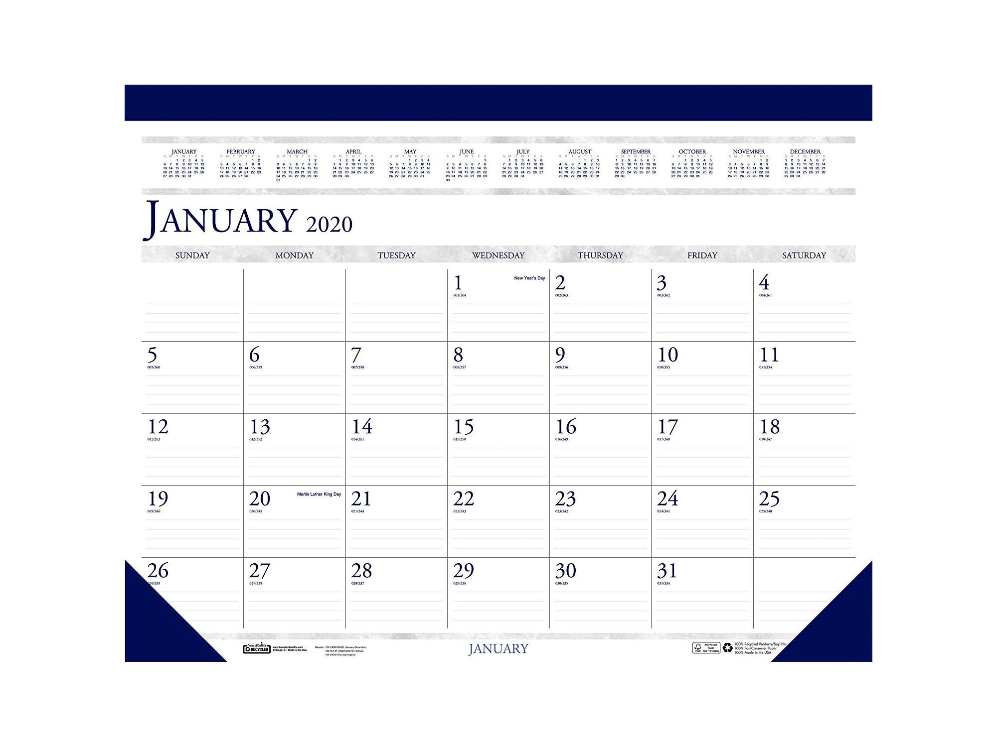 House of Doolittle 2020 Monthly Desk Pad Calendar
