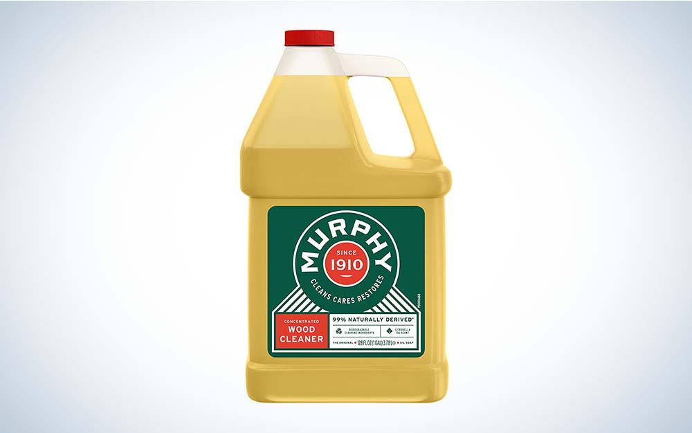 The Murphy Oil Soap Wood Cleaner is the best concentrated liquid.