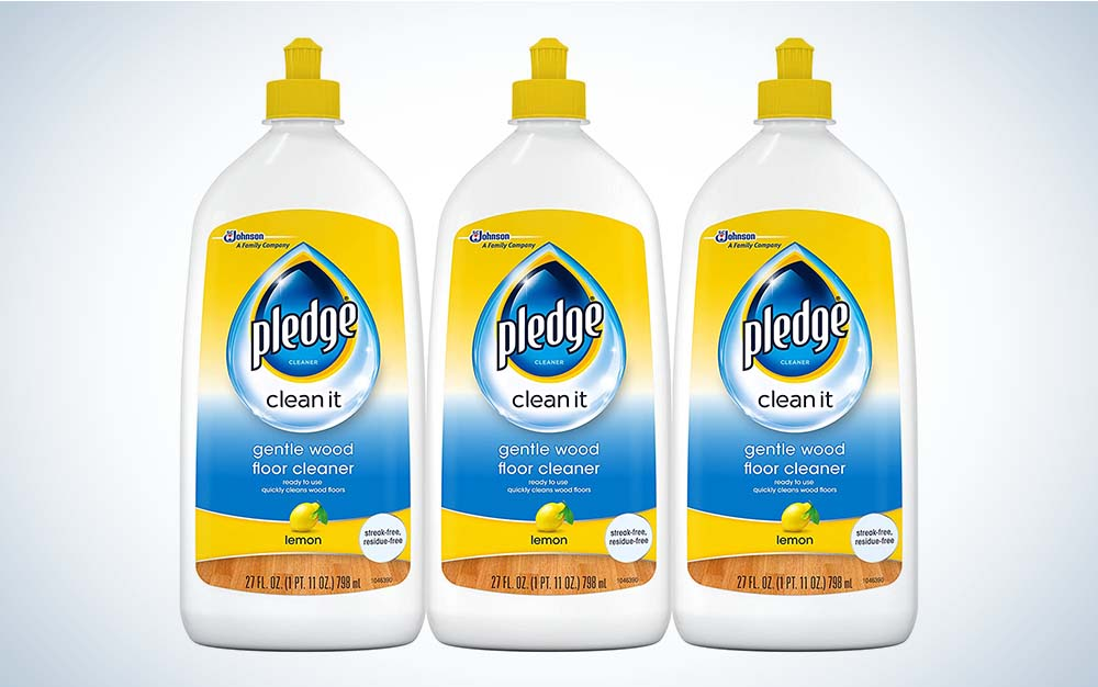 Pledge Wood Floor Cleaner is the best value.