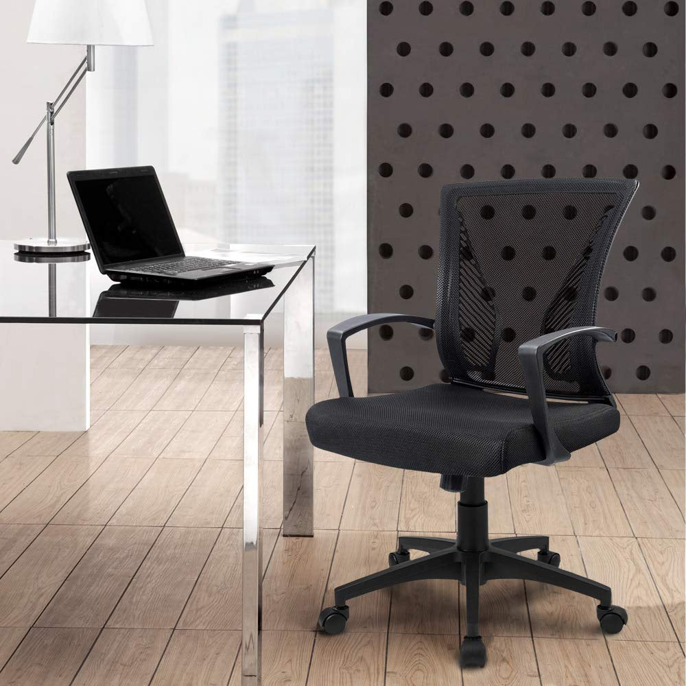 Office setup with desk and chair