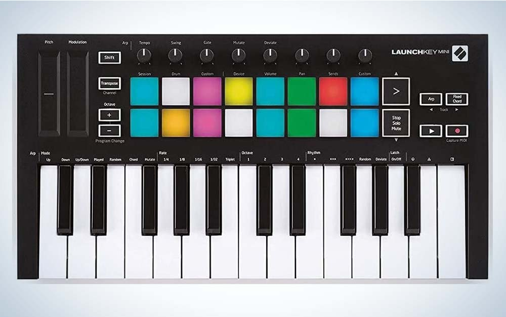 The Novation Launchkey Mini [MK3] is the best out-of-the-box.