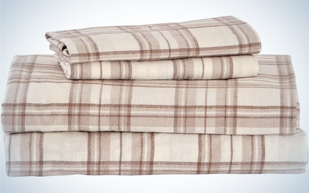 stone-beam-rustic-cotton-plaid-flannel-bed-sheet