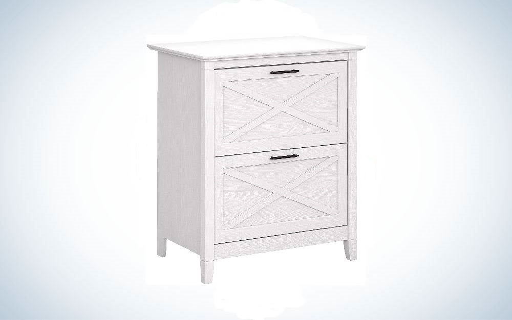 The Bush Furniture Key West Two-Drawer Lateral File Cabinet is one of the best file cabinets overall