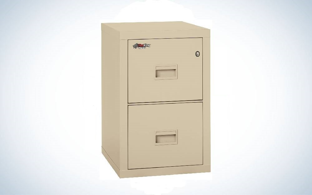 The Fireking Turtle Vertical Filing Cabinet is one of the best fireproof file cabinets.