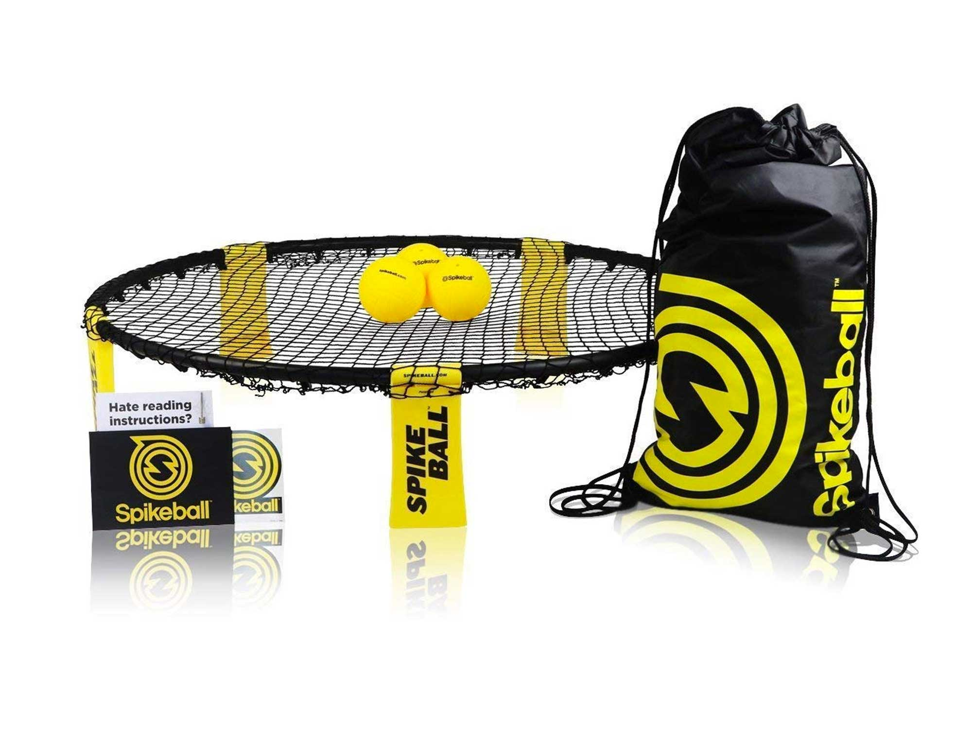 Spikeball Standard 3 Ball Kit - Includes Playing Net, 3 Balls, Drawstring Bag, Rule Book