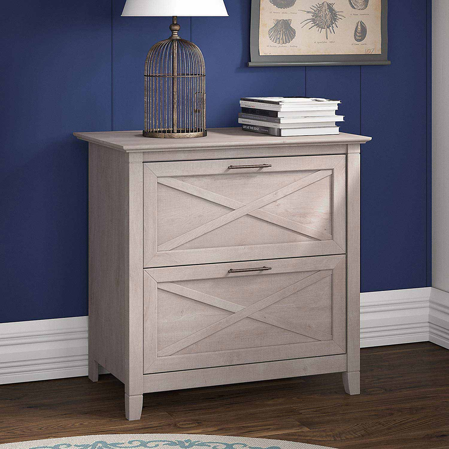 A secure file cabinet can protect your files without looking like its meant for a corner office.