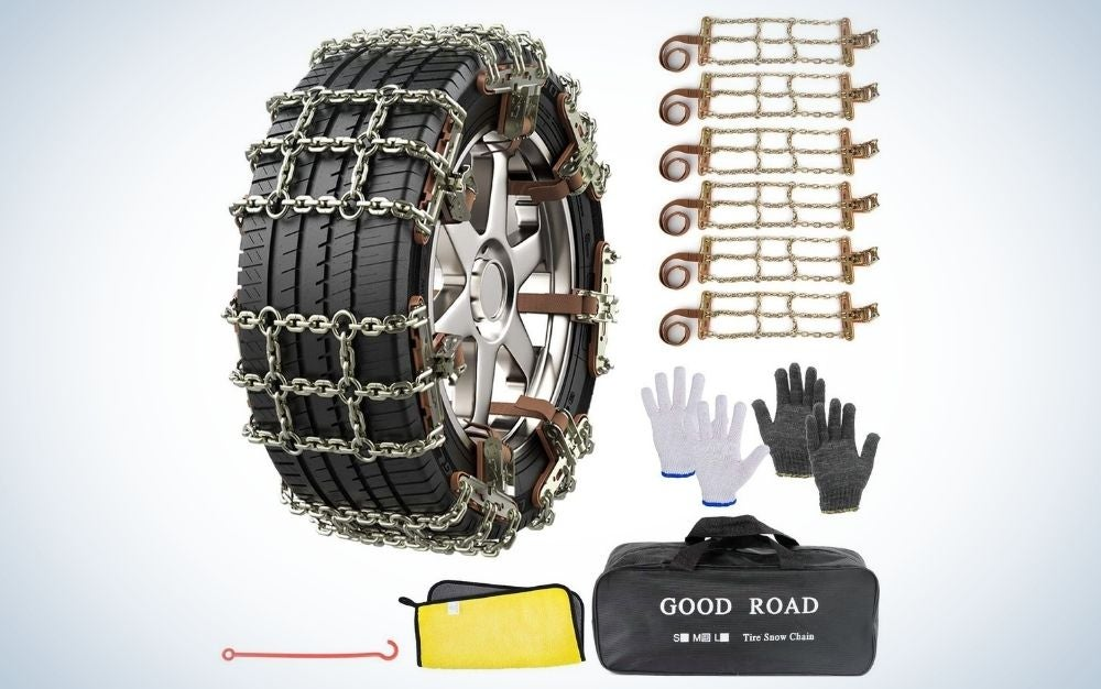 AutoChoice 6 Packs Snow Chains are the best heavy duty tire chains.