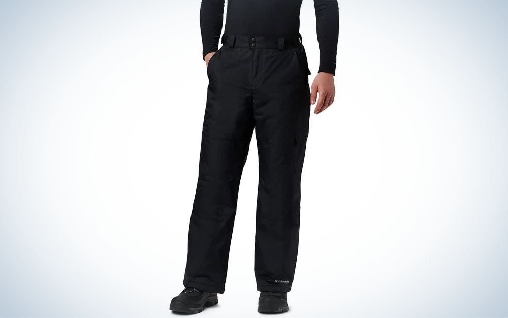 Columbia Men's Snow Gun Pants are the best snowboarding pants for newbies.