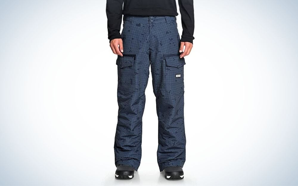 DC Code Mens Snowboard Pants are the best snowboard pants for sunny days.