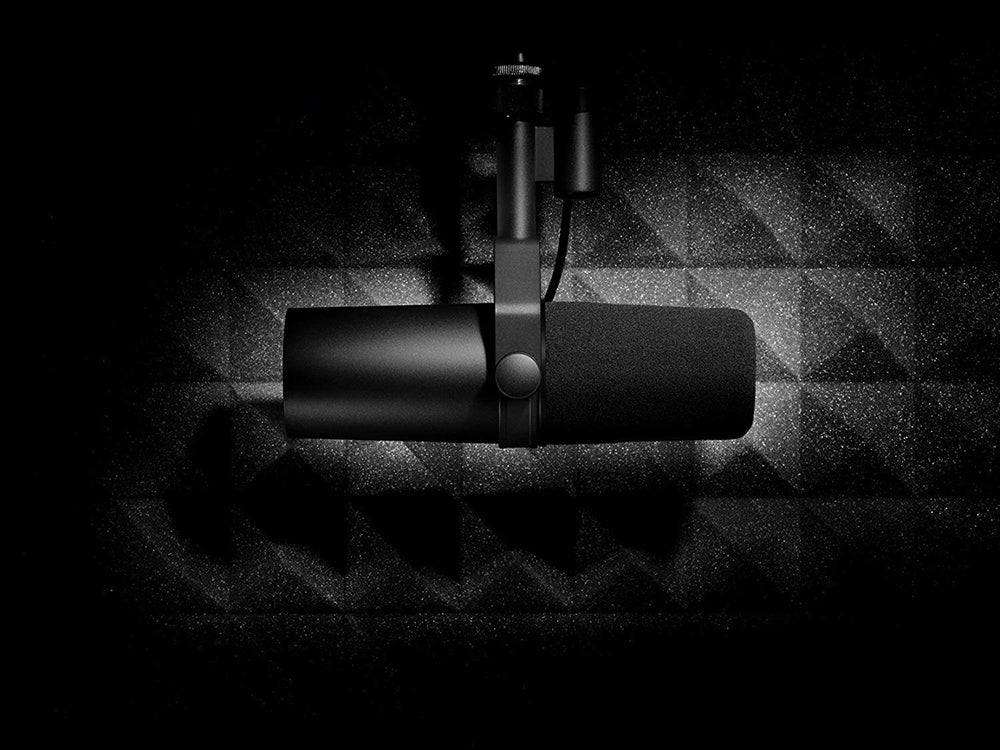 Shure recording microphone