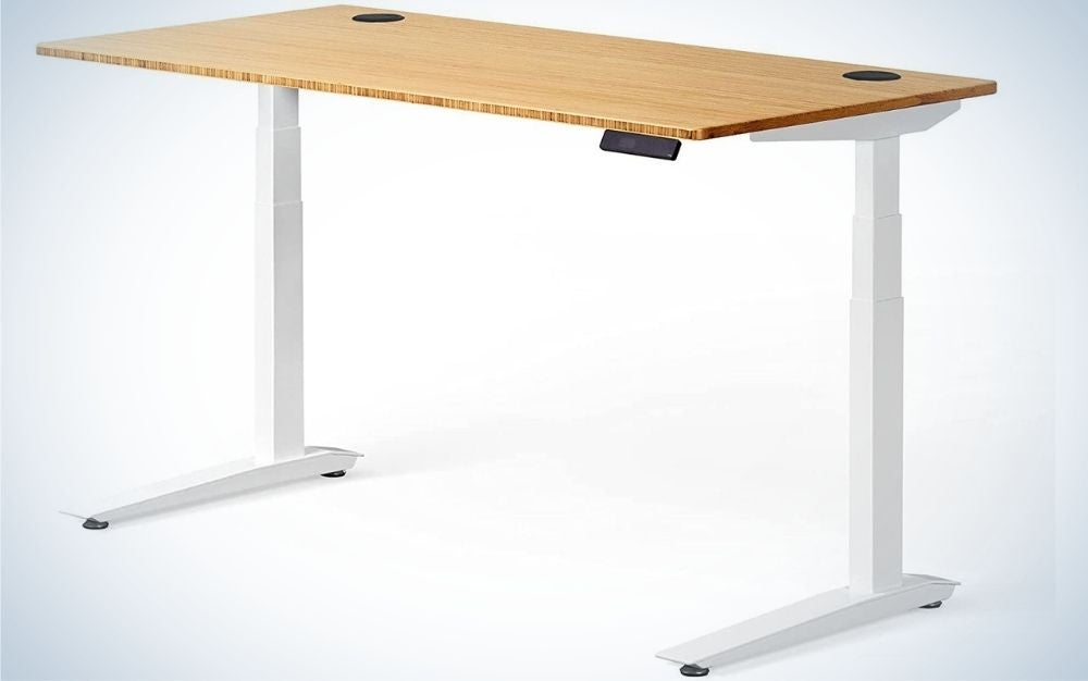 The Fully Jarvis Standing Desk is the best standing desk we found.