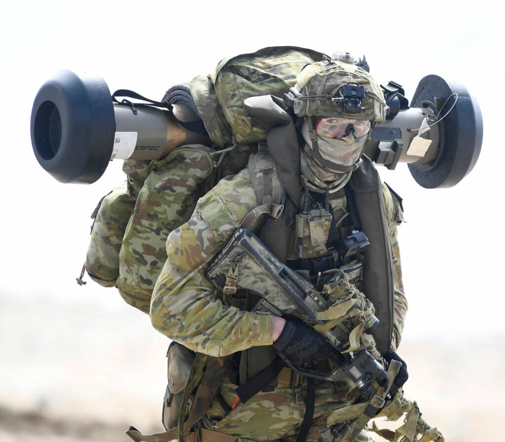 Today's Australian infantry are full-time professional soldiers.